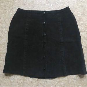 Suede A-line Skirt • Ann Taylor